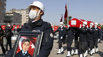 Gara şehidi polis memuru Vedat Kaya, Mardinde son yolculuğuna uğurlandı