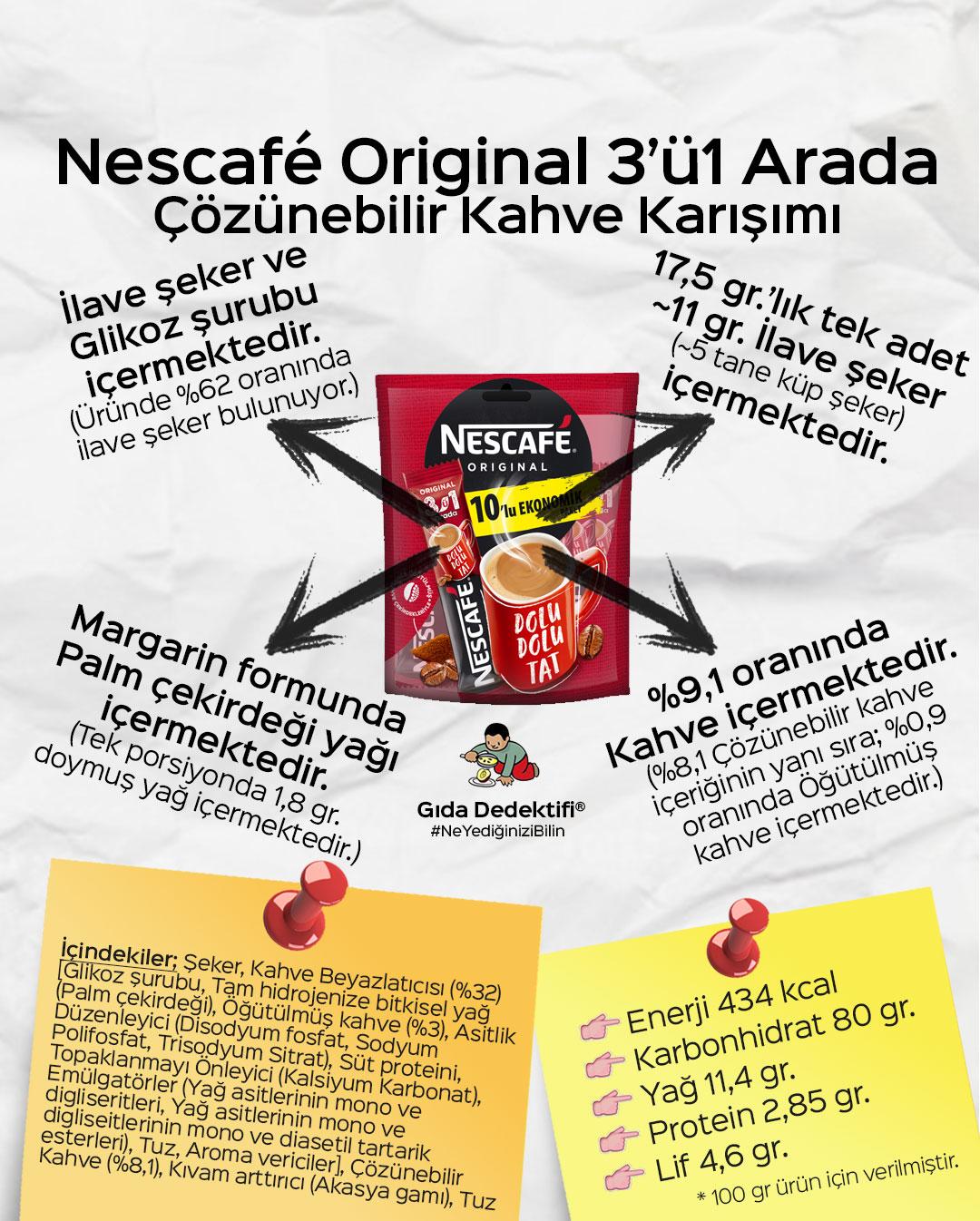 Nescafé 3'ü1 Arada - Gıda Dedektifi