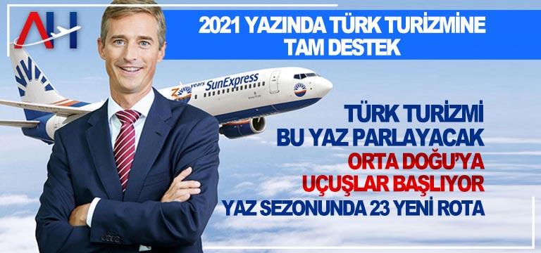 SunExpress'ten 2021 yazında Türk turizmine tam destek