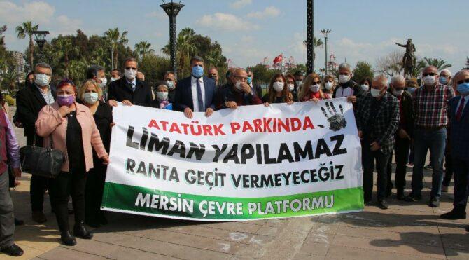 'Atatürk Parkı'nda liman yapılamaz'