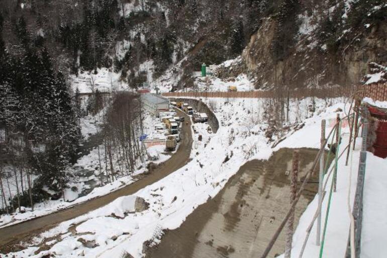 Ayder Yaylasında otopark inşaatı Dağın içinde olacak, dışarıdan görünmeyecek
