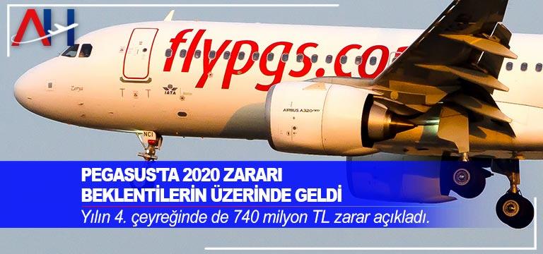 Pegasus 2020 yılında 1,97 milyar TL'lik zarar açıkladı