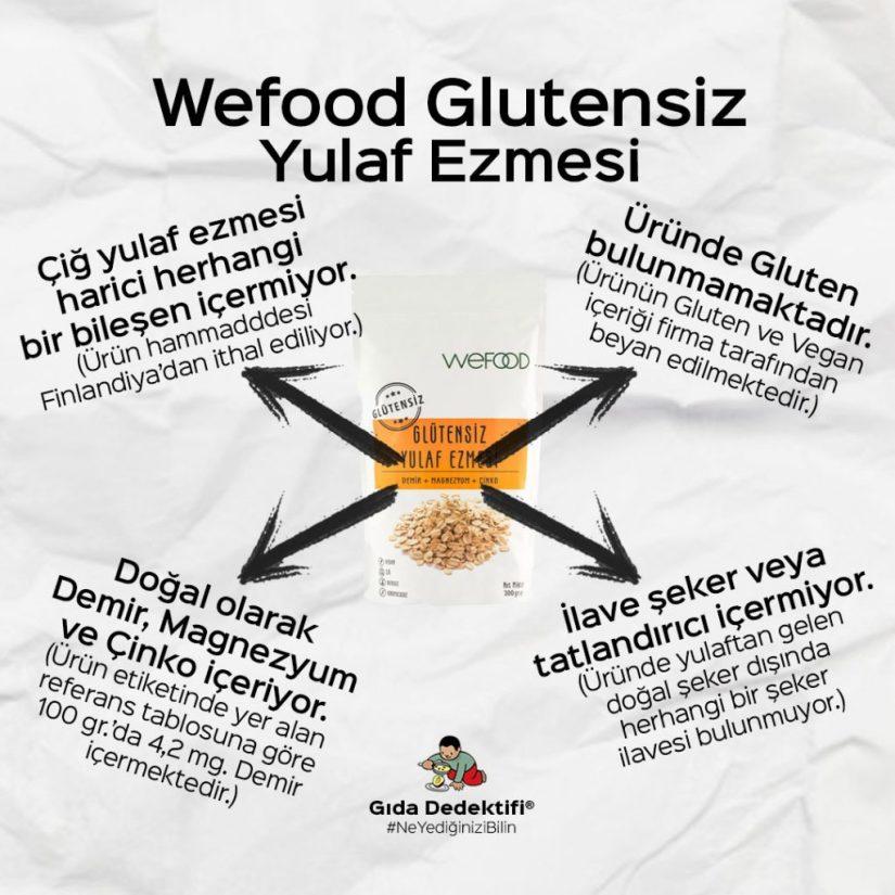 Wefood Glutensiz Yulaf Ezmesi - Gıda Dedektifi
