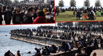 İstanbulda kısıtlamasız cumartesi yoğunluğu Akın ettiler