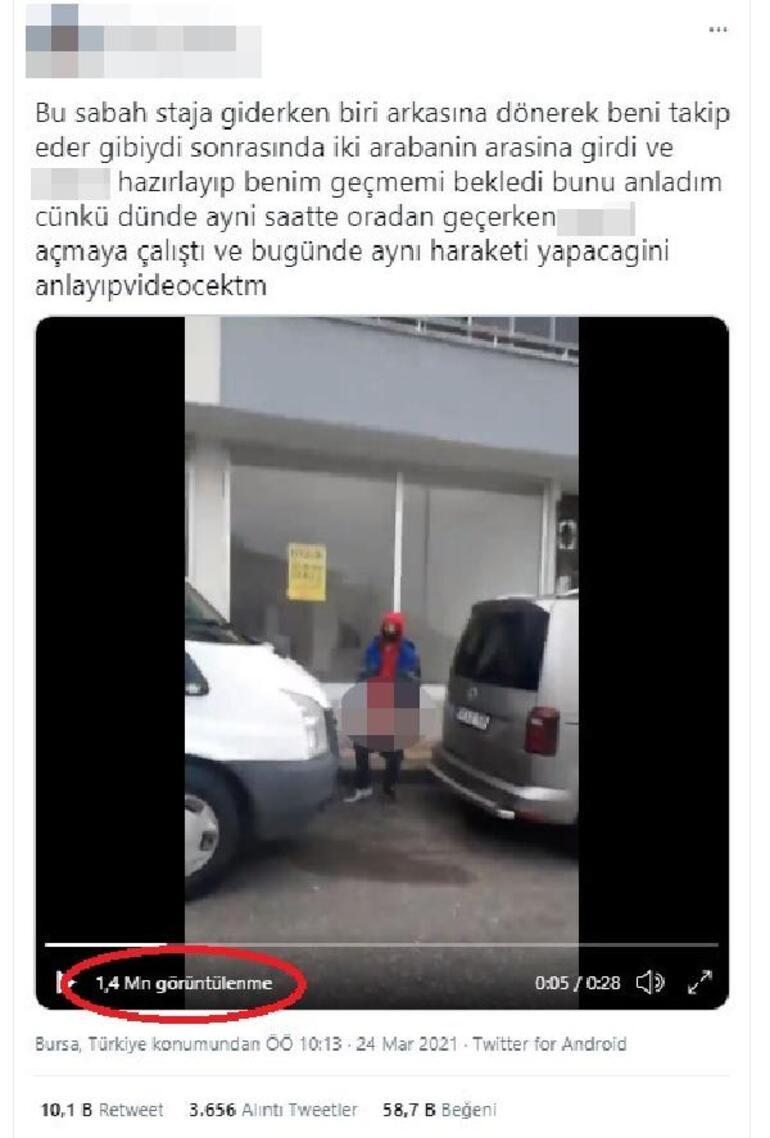 Bursada sokak ortasında iğrenç taciz Genç kız ifade verdi