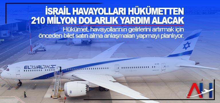 İsrail Havayolları hükümetten 210 milyon dolarlık yardım alacak