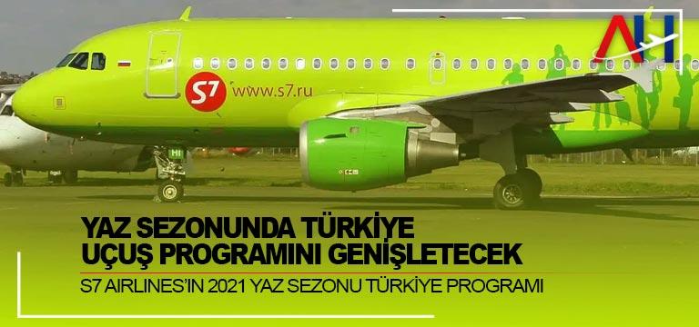 S7 Airlines, Yaz sezonunda Türkiye Uçuş Programını Genişletecek