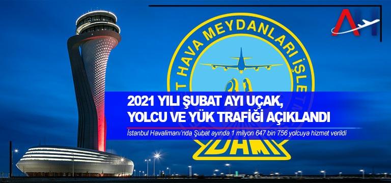 Şubat ayında hava yolunu kullanan yolcu sayısı 5 milyonu aştı