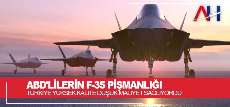 ABD'lilerin F-35 pişmanlığı