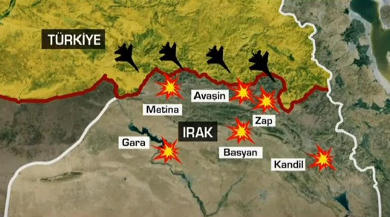 Son dakika... Kuzey Irakta geniş çaplı operasyon Metinaya kara harekatı başladı..