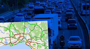 Dikkat Kısıtlama öncesi İstanbulda trafik kilit