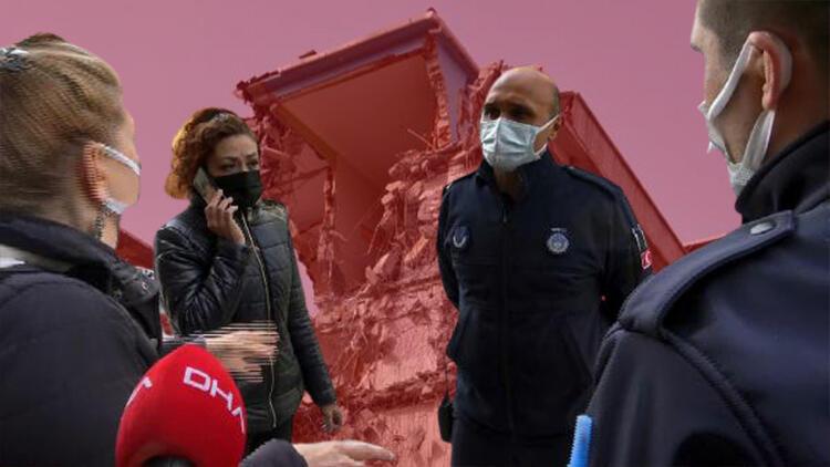 Yıkılan binanın yanında yaşayan komşular isyan etti: 'Sallanıyoruz'