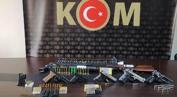 Mersin ve Adanada silah kaçakçılığı operasyonu: 14 gözaltı