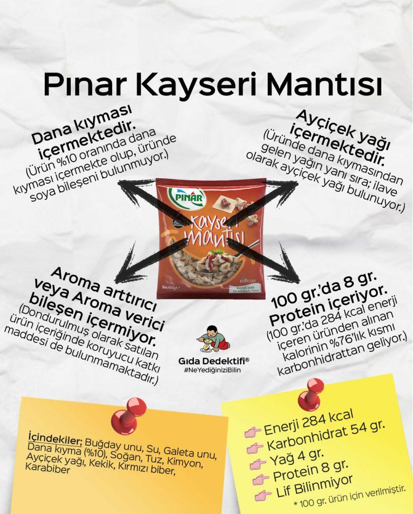 Pınar Kayseri Mantısı - Gıda Dedektifi