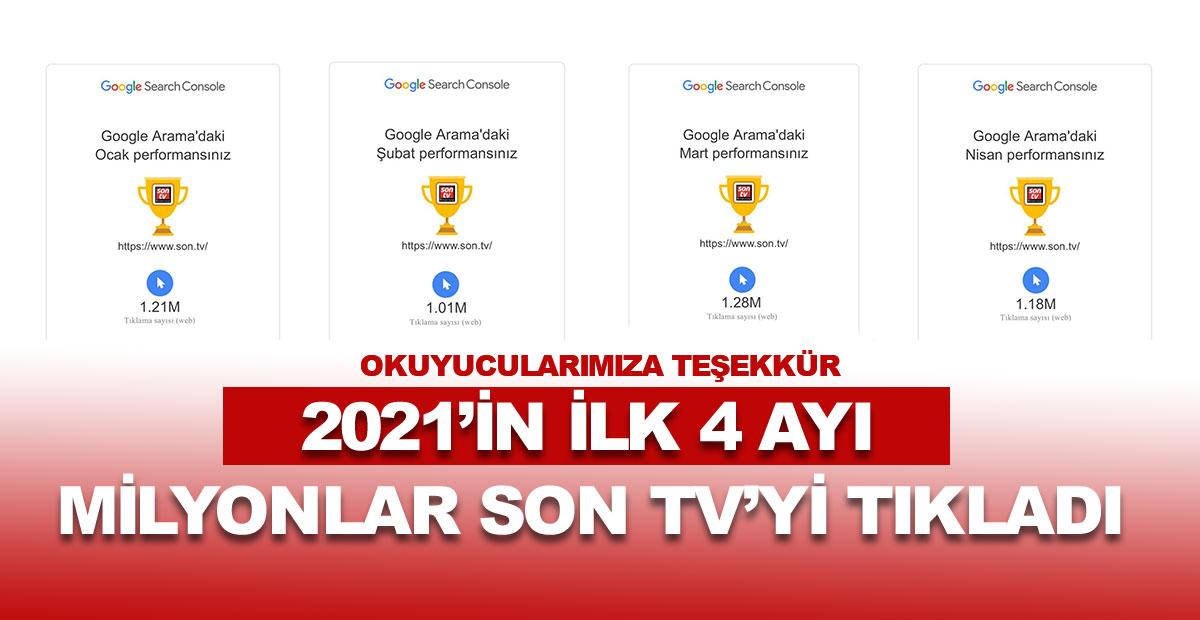 2021'nin ilk 4 ayı milyonlar SON TV'yi tıkladı | SON TV