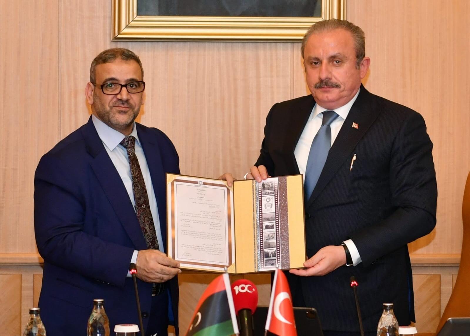 Meclis Başkanı Şentop, Libya Devlet Yüksek Konseyi Başkanı ile görüştü