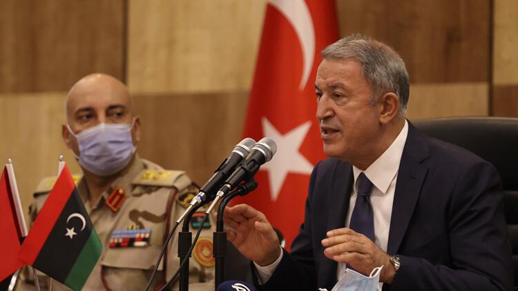 Son dakika... Bakan Akar, Libya'daki askerlere seslendi: Bütün mağaralara, inlere girildi