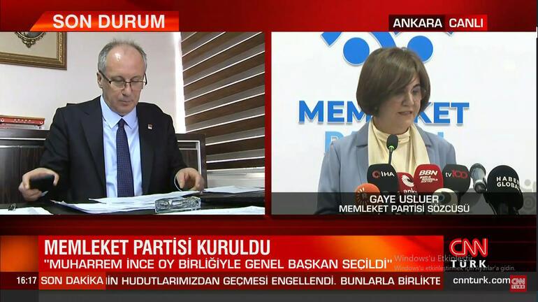 Son dakika... Muharrem İnce parti kuruluş dilekçesini İçişleri Bakanlığına verdi Memleket Partisi kuruldu