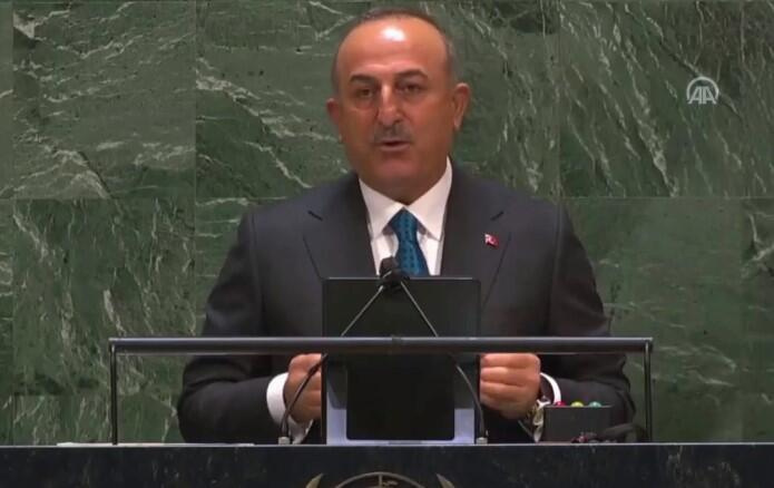 Son dakika haberi: Çavuşoğlu'ndan BM'de çarpıcı konuşma! Çözümün yol haritasını tane tane anlattı