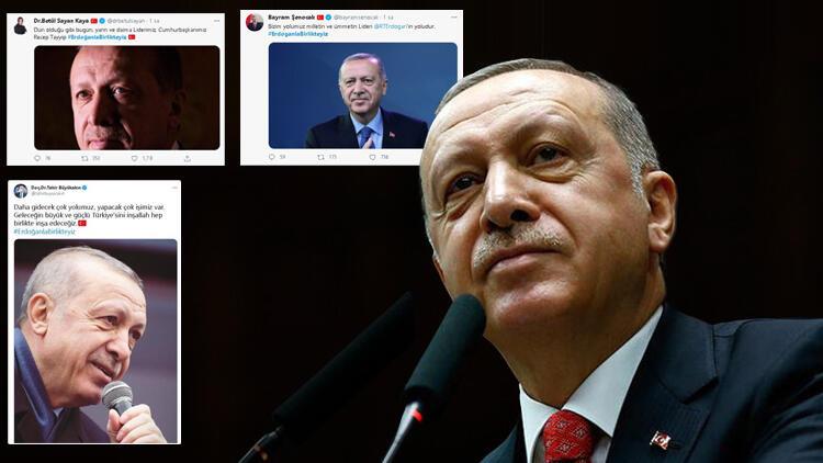 Twitter'da binlerce tweet atıldı! #ErdoğanlaBirlikteyiz