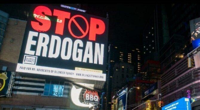 'Stop Erdoğan' yazılı billboardlar için iddianame
