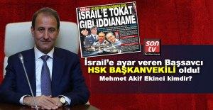 İsrail'e ayar veren Başsavcı HSK Başkanvekili oldu! HSK Başkanvekili Mehmet Akif Ekinci kimdir?   SON TV