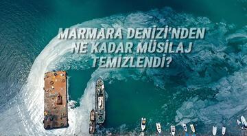 Marmara Denizinden ne kadar müsilaj temizlendi.. Bakan Kurum son rakamı açıkladı..