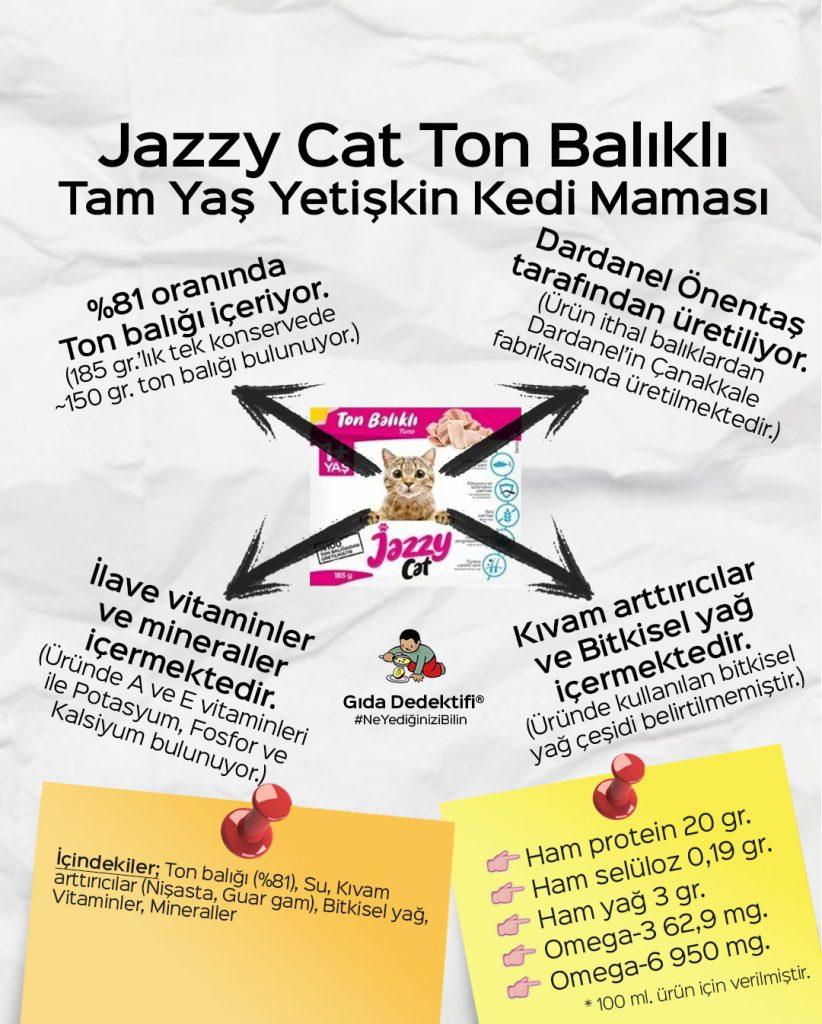 Jazzy Cat Ton Balıklı Yetişkin Kedi Maması - Gıda Dedektifi