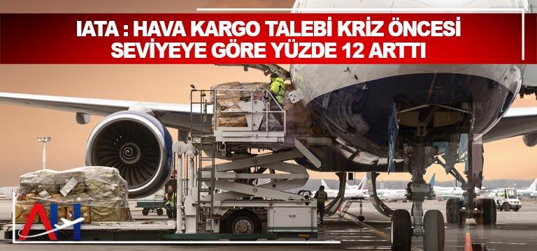 IATA : Hava kargo talebi kriz öncesi seviyeye göre yüzde 12 arttı