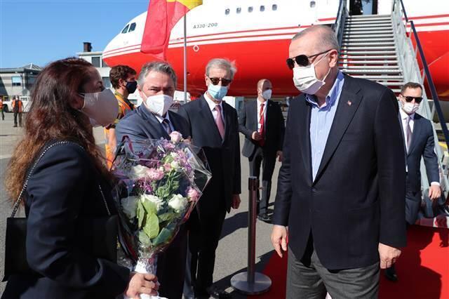 Kritik NATO Zirvesi için Brüksel'e gelen Cumhurbaşkanı Erdoğan'dan ilk temas