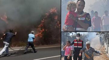 Muğlanın Ula ilçesinde orman yangını Kara yolu ulaşıma kapatıldı, vatandaşlar tahliye ediliyor
