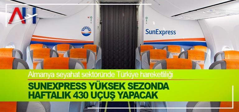 SunExpress yüksek sezonda haftalık 430 uçuş yapacak