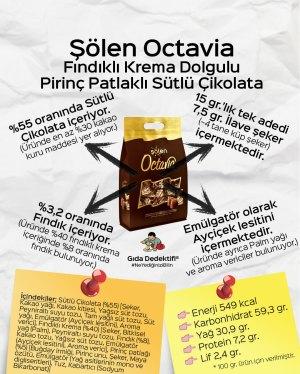 Şölen Octavia Fındıklı Dolgulu Pirinç Patlaklı Sütlü Çikolata - Gıda Dedektifi
