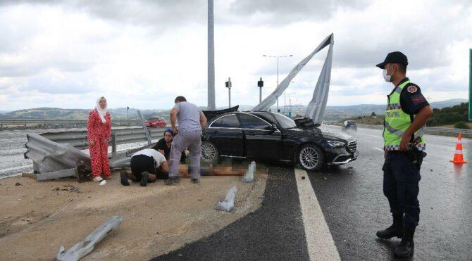 Kuzey Marmara Otoyolu'nda feci kaza: 1 ölü, 3'ü çocuk 4 yaralı