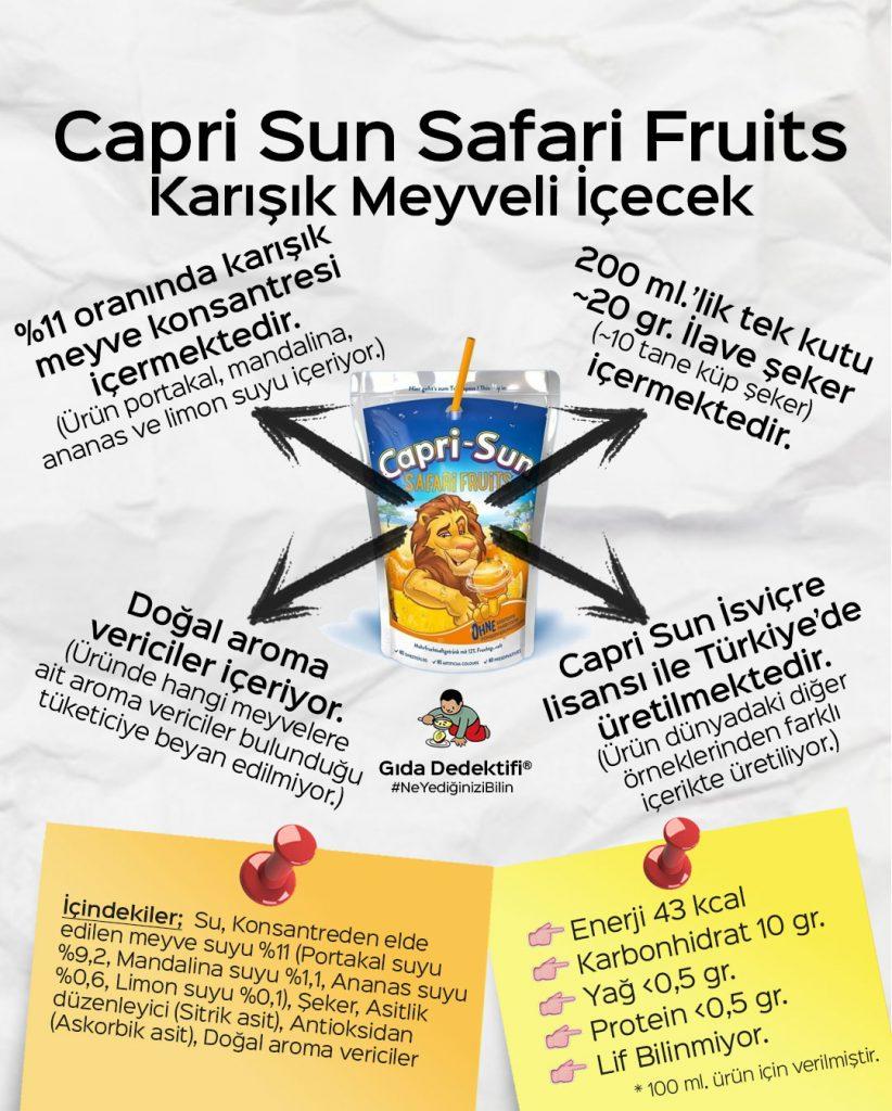 Capri Sun Safari Fruits Karışık Meyveli İçecek - Gıda Dedektifi