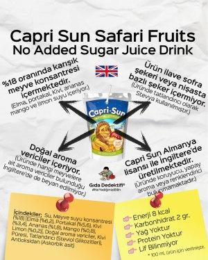 Capri Sun Safari Fruits İngiltere Versiyonu - Gıda Dedektifi