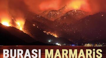 Marmaristeki orman yangını Bir kişi hayatını kaybetti, bölgeden dehşet verici kareler geliyor...