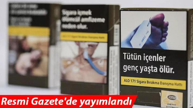 Son dakika... Sigara paketleri değişiyor! Sigara paketlerinde değişim kararı... Resmi Gazete'de yayımlandı