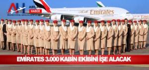 Emirates 3.000 kabin ekibini işe alacak