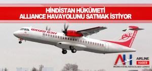 Hindistan hükümeti Alliance Havayolunu satmak istiyor