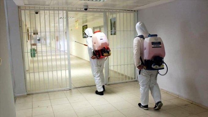 Cezaevin'de 65 koronavirüs vakasına rastlandı