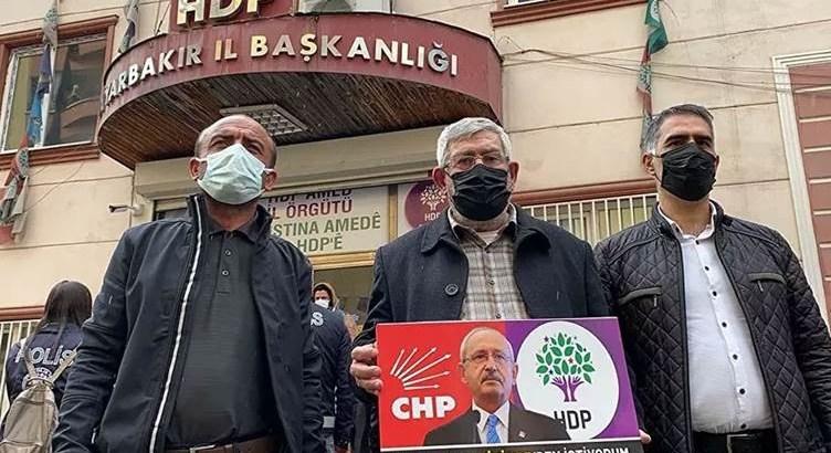 Kılıçdaroğlu'nun kardeşi HDP binası Önünde eyleme katıldı