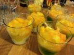 Exotische Limonen Crème in Dessert Gläsern