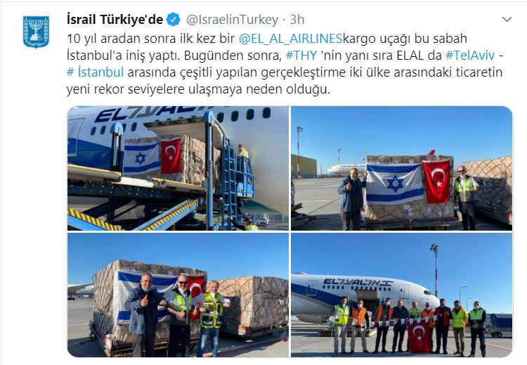 İsrail Havayolları 13 Yıl Sonra Atatürk Havalimanında