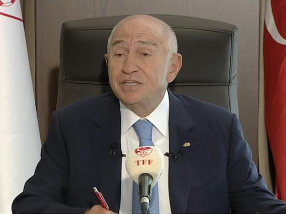 TFF Başkanı Nihat Özdemir, video konferans aracılığıyla basın toplantısı düzenledi