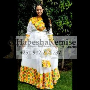 Abeba Nat Ethiopian Traditional Dress-10