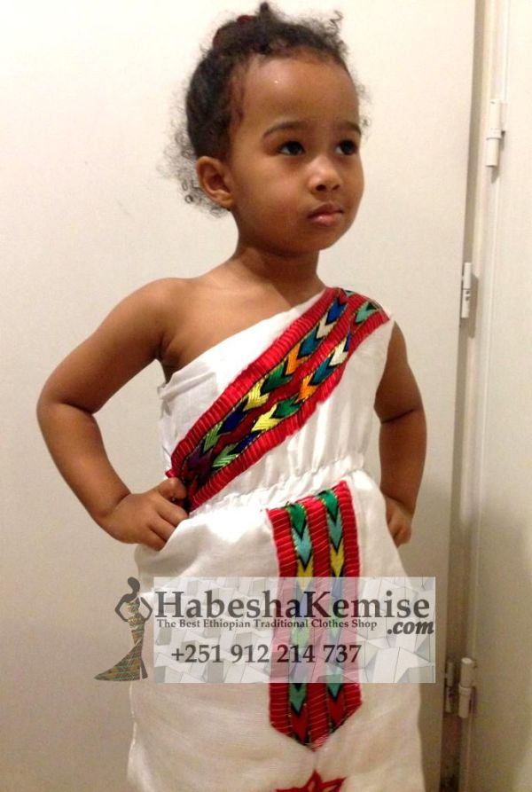Anbessit Ethiopian Traditional Dress Kids-4