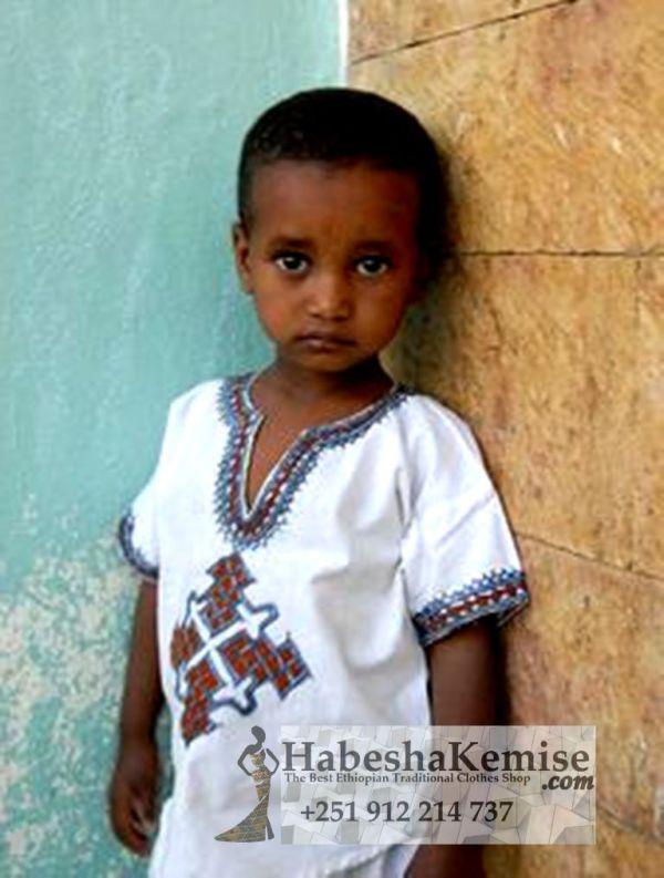 Baby Jegna Ethiopian Traditional Dress Kids-19