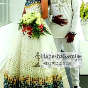 Distinguished Arki Ethiopian Traditional Dress Wedding-44