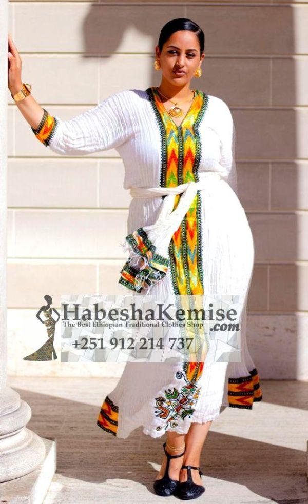 Dynamic Shikorina Ethiopian Traditional Clothes-78
